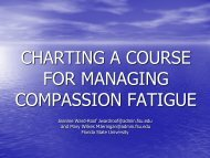 CHARTING A COURSE FOR MANAGING COMPASSION FATIGUE