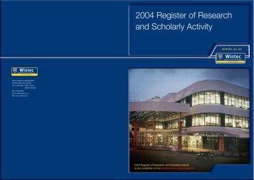 Wintec Register of Research and Scholarly Activity 2004