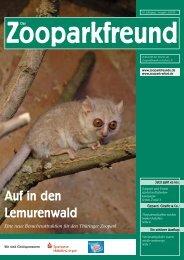 Auf in den Lemurenwald - Verein der Zooparkfreunde in Erfurt eV