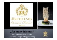 Microsoft PowerPoint - III Hertelendy-Gourmet-Festival MAGYAR \332J