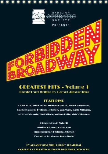PDF (Forbidden Broadway Programme) - Wintec Research Archive