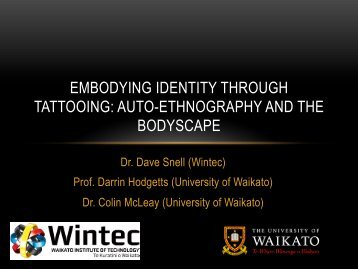 embodying identity through tattooing: auto-ethnography and the ...