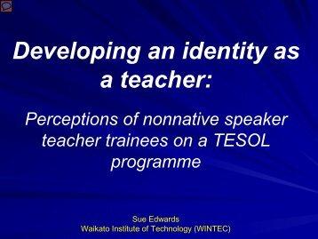 NNS teachers - Wintec Research Archive