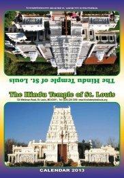 CALENDAR 2013 - Hindu Temple of St. Louis
