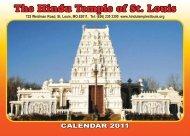 CALENDAR 2011 - Hindu Temple of St. Louis