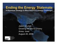 Ending the Energy Stalemate Ending the Energy Stalemate