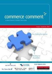 Commerce Comment August/September 2009 - Nelson Tasman ...
