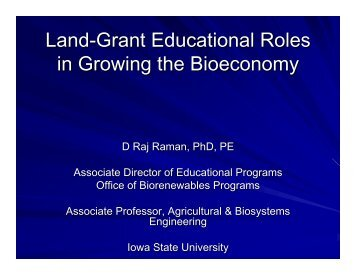 Raj Raman - Bioeconomy Conference 2009