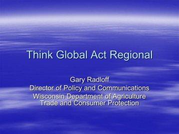 Gary Radloff - Bioeconomy Conference 2009