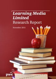 Learning Media Limited Research Report