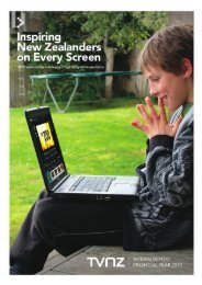 TVNZ Interim Report FY2010 - Crown Ownership Monitoring Unit
