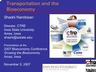 Shashi Nambisan - Bioeconomy Conference 2009