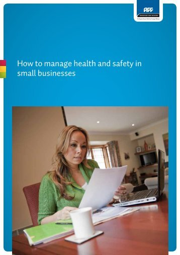 How to manage health and safety in small businesses - ACC