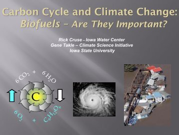 Carbon Cycle and Biofuel Production Changing the Climate