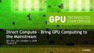 Direct Compute – Bring GPU Computing to the Mainstream