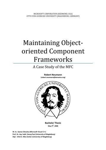 Maintaining OO Component Frameworks - Densetsu.org