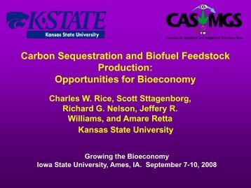 Charles Rice - Bioeconomy Conference 2009