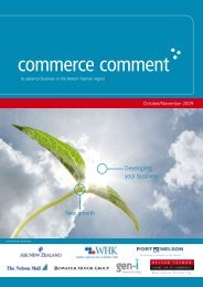 Commerce Comment October/November 2009 - Nelson Tasman ...