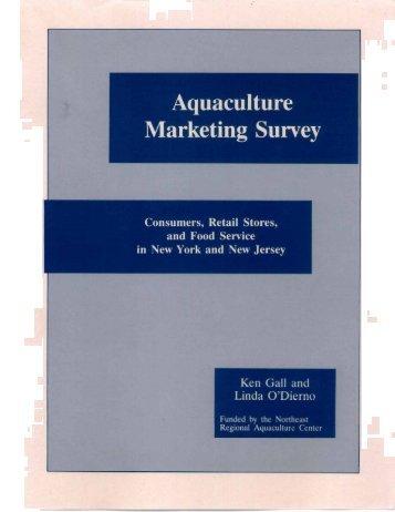 Aquaculture Marketing Survey - Jersey Seafood