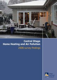 Central Otago Home Heating and Air Pollution 2006 survey findings