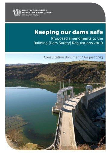 Keeping our dams safe - Otago Regional Council