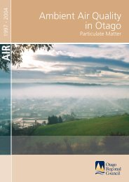 Ambient air quality in Otago, particulate matter, 1997-2004