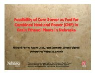 Feasibility of Corn Stover as Fuel for Combined Heat and Power ...