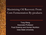Maximizing Oil Recovery From Corn - Bioeconomy Conference 2009