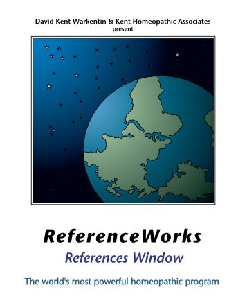 RW References Window - Kent Homeopathic Associates, Inc.