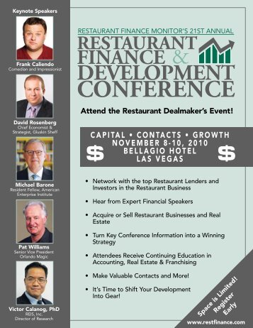 21st Annual Restaurant Finance & Development Conference