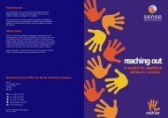 A toolkit for deafblind children's services reaching out ... - Sense