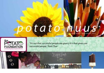 November 2011 Nuusbrief - The Potato Foundation