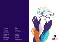 Sense annual report and accounts 2010