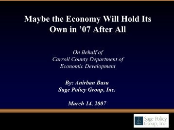 2007 Economic Outlook Seminar Presentation - Carroll County ...