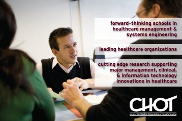forward-thinking schools in healthcare management & systems ...