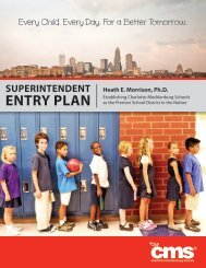 Superintendent's Entry Plan - Charlotte-Mecklenburg Schools