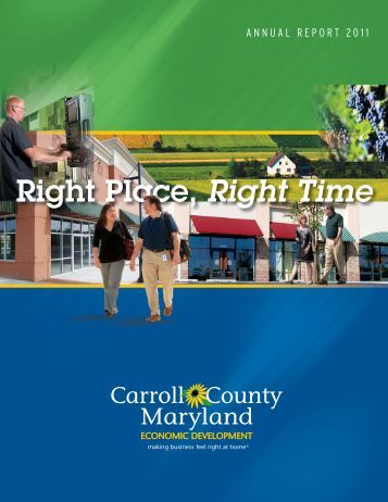 2011 Annual Report - Carroll County Department of Economic ...