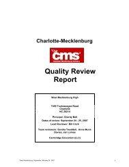 CMS001_West Mecklenburg Final Report.pdf - Charlotte ...