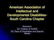 American Association of Intellectual and Developmental Disabilities ...