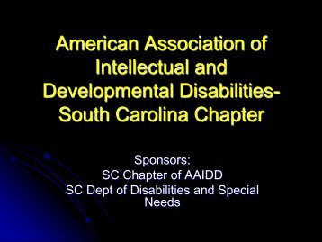 American Association of Intellectual and Developmental Disabilities ...