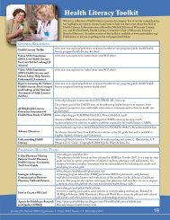 March-April 2010 Centerfold Health Literacy - National AHEC ...