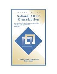 Collaborative Educational Innovations - National AHEC Organization