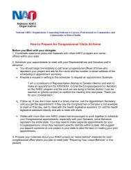 How to Prepare for Congressional Visits At Home - National AHEC ...