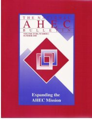 Summer 2001.pmd - National AHEC Organization