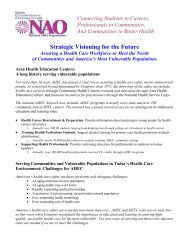 Strategic Visioning for the Future - National AHEC Organization