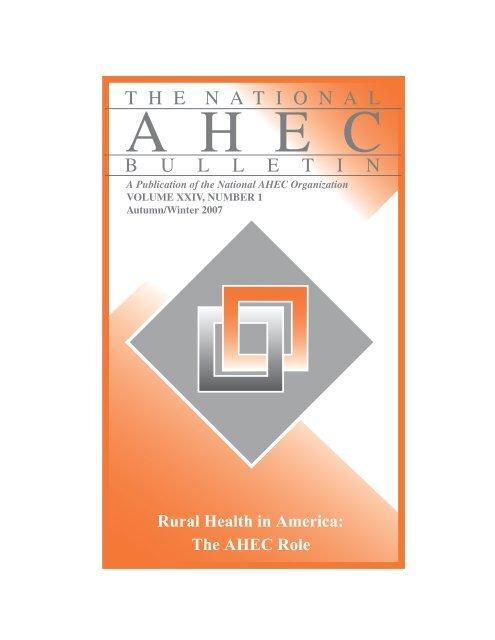 Autumn-Winter 2007 – Rural Health in America - National AHEC ...