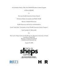 An Evaluative Study of the Area Health Education Centers Program ...