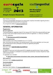 general information - Eurocycle 2013