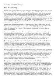 Voor de verandering - Doopsgezinde Gemeente Alkmaar