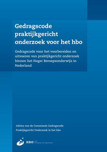 Gedragscode praktijkgericht onderzoek voor het hbo - Vereniging ...